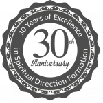 A Badge that says Celebrating 30 Years of Excellence in Spiritual Direction Formation